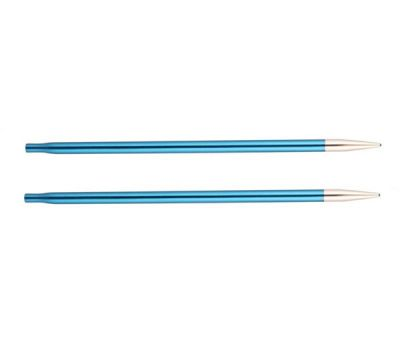 """4,00//20 Knit Pro Съемные спицы """"Zing"""" 4,0мм для длины тросика 20см, алюминий, сапфир(темно синий), 2шт в упаковке, 47523"""