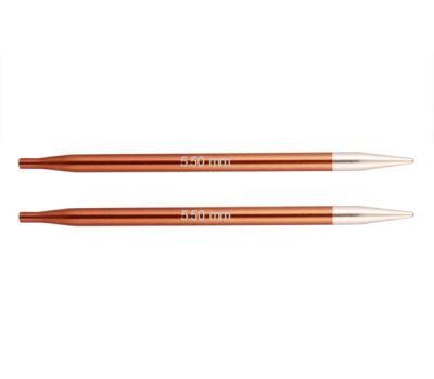 """5,50//20 Knit Pro Съемные спицы """"Zing"""" 5,5мм для длины тросика 20см, алюминий, охра (коричневый), 2шт в упаковке, 47526"""