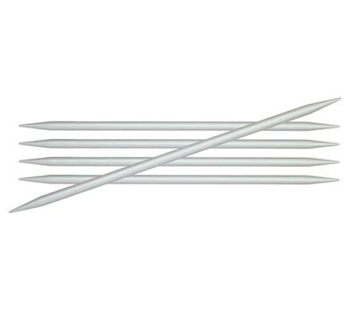 """15/4,50 Knit Pro Спицы чулочные """"Basix Aluminum"""" 4,5мм/15см, алюминий, серебристый, 5шт в упаковке, 45106"""