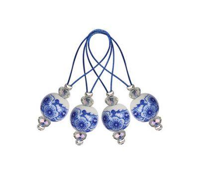 "11256 Knit Pro Маркер для вязания ""Blooming Blue"" /Синее цветение/ пластик, 12шт  в упаковке, 11256"