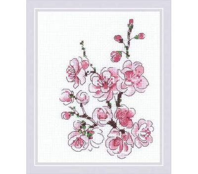 """1818 Набор для вышивания """"Риолис"""" Веточка сакуры 13х16 см, 1818"""