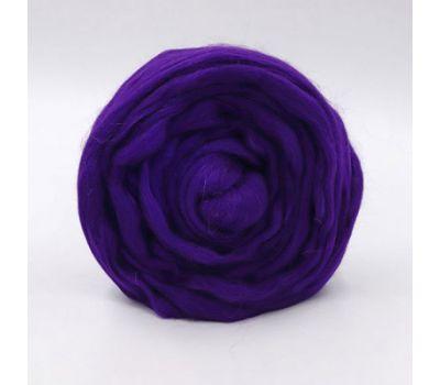 Троицкая камвольная фабрика Гребенная лента полутонкая Темно фиолетовый, 698