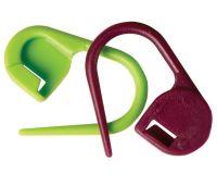 """10805 Knit Pro Маркер для вязания """"Булавка"""", пластик, зеленый/бордовый, 30шт в уп-ке"""