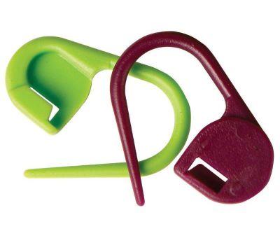 """10805 Knit Pro Маркер для вязания """"Булавка"""", пластик, зеленый/бордовый, 30шт в уп-ке, 10805"""