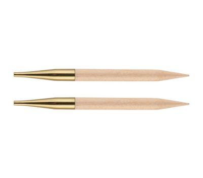 """12,0 Knit Pro Спицы съемные """"Basix Birch"""" 12,0мм для длины тросика 28-126см, береза, натуральный, 2шт в упаковке, 35645"""
