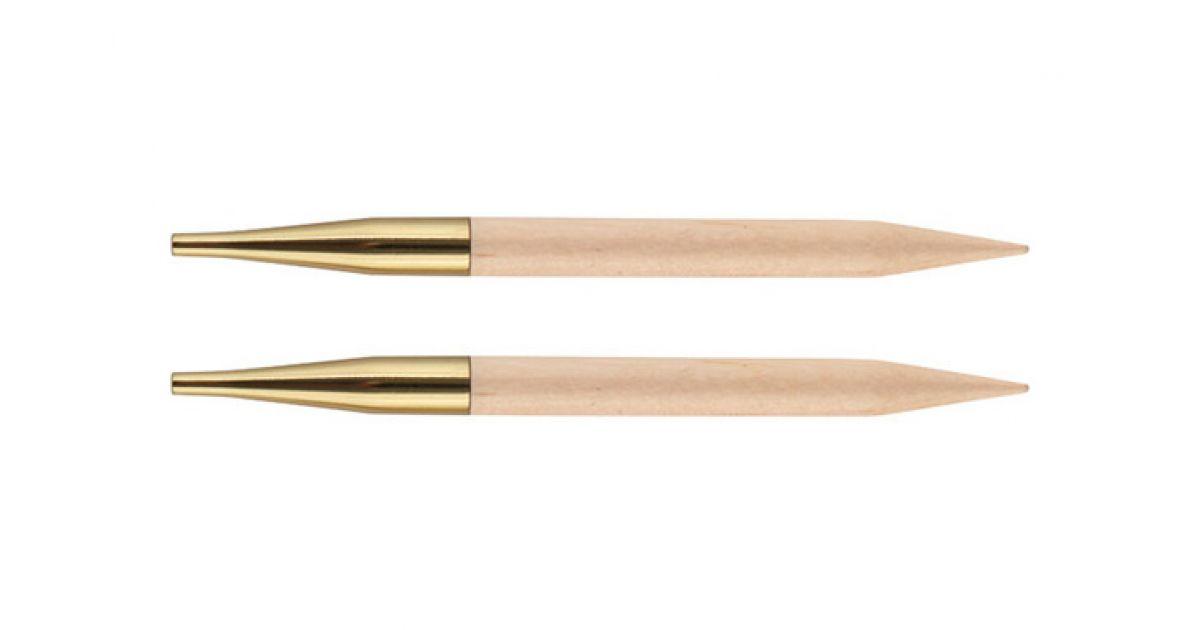 """3,50 Knit Pro Спицы съемные """"Basix Birch"""" 3,5мм для длины тросика 20см, береза, натуральный, 2шт в упаковке, 35653"""