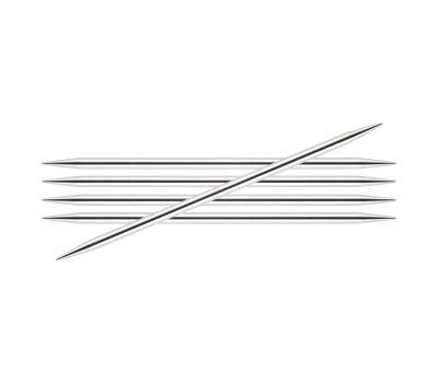 """20/4,50 Knit Pro Спицы чулочные """"Nova Metal"""" никелированная латунь, серебристый, 5шт в упаковке №4,5, 10110"""