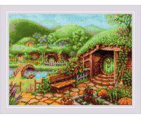 """1904 Набор для вышивания """"Риолис"""" Зеленые холмы 40*30 см"""