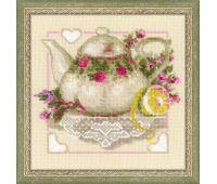 """1477 Набор для вышивания """"Риолис"""" Чай с лимоном 20*20 см"""