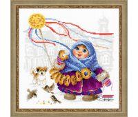 """1517 Набор для вышивания """"Риолис"""" Масленица, Бублики 25*25 см"""