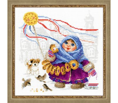 """1517 Набор для вышивания """"Риолис"""" Масленица, Бублики 25*25 см, 1517"""
