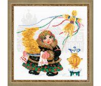 """1518 Набор для вышивания """"Риолис"""" Масленица, Блины 25*25 см"""