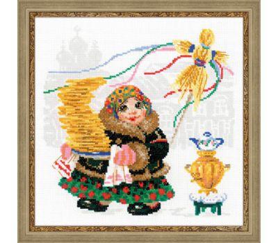 """1518 Набор для вышивания """"Риолис"""" Масленица, Блины 25*25 см, 1518"""