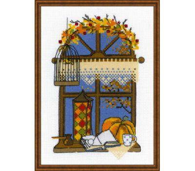 """1593 Набор для вышивания """"Риолис"""" Осеннее окошко 15*21 см, 1593"""