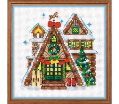 """1660 Набор для вышивания """"Риолис"""" Охотничий домик 15*15 см, 1660"""