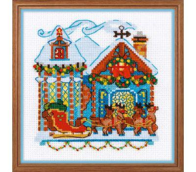 """1661 Набор для вышивания """"Риолис"""" Домик с санями 15*15 см, 1661"""