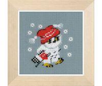 """1667 Набор для вышивания """"Риолис"""" Снежок 9*9 см"""
