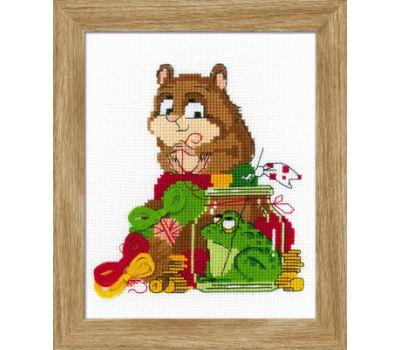 """1709 Набор для вышивания """"Риолис"""" Какой хомяк без жабы 15*18 см, 1709"""