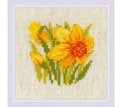 """1841 Набор для вышивания """"Риолис"""" Нарцисс 13х13 см, 1841"""