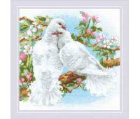 """1856 Набор для вышивания """"Риолис"""" Белые голуби 25х25 см"""
