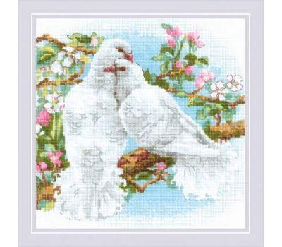 """1856 Набор для вышивания """"Риолис"""" Белые голуби 25х25 см, 1856"""