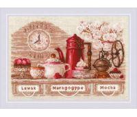 """1874 Набор для вышивания """"Риолис"""" CoffeeTime 30х21 см"""
