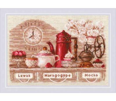 """1874 Набор для вышивания """"Риолис"""" CoffeeTime 30х21 см, 1874"""
