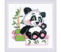 """1883 Набор для вышивания """"Риолис"""" Панда-рочек 15х15 см"""