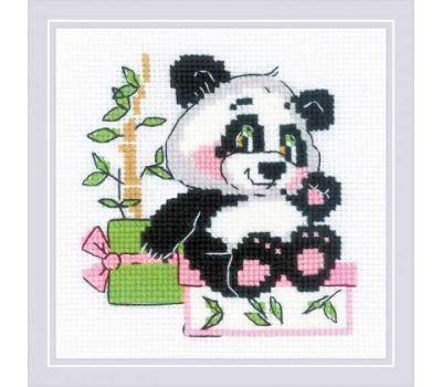 """1883 Набор для вышивания """"Риолис"""" Панда-рочек 15х15 см, 1883"""