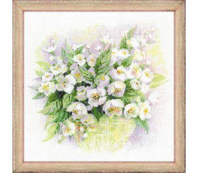 """1467 Набор для вышивания """"Риолис"""" Акварельный жасмин 30х30 см, 1467"""
