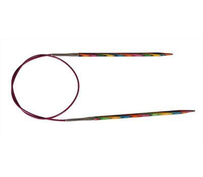"""80/2,00 Knit Pro Спицы круговые укороченные """"Symfonie"""" 2,0мм/80см  ламинированная береза, многоцветный, 20331"""