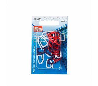 611868 Prym Маркер для вязания, пластик, ассортимент разноцветный, 21шт в упаковке, 611868