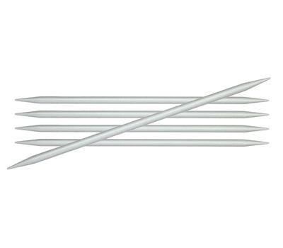 """20/3,75 Knit Pro Спицы чулочные """"Basix Aluminum"""" 3,75мм/20см, алюминий, серебристый, 5шт в упаковке, 45121"""