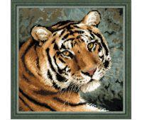 """1282 Набор для вышивания """"Риолис"""" Амурский тигр 40х40 см"""