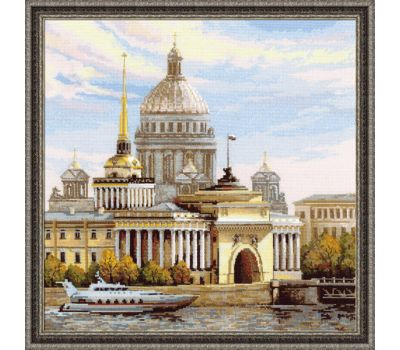 """1283 Набор для вышивания """"Риолис"""" Санкт-Петербург. Адмиралтейская набережная. 40х40 см, 1283"""