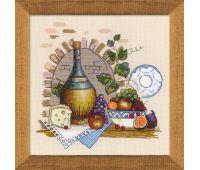 """1303 Набор для вышивания """"Риолис"""" Натюрморт с сыром 35х35 см"""