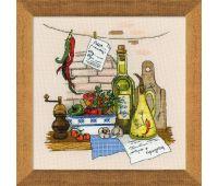 """1304 Набор для вышивания """"Риолис"""" Натюрморт с перцем 35х35 см"""