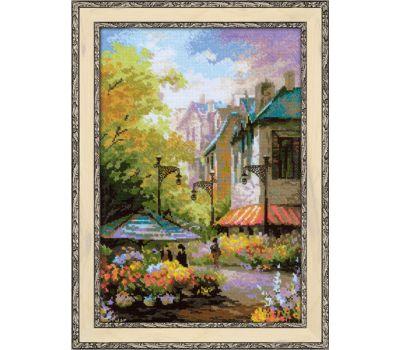"""1306 Набор для вышивания """"Риолис"""" Цветочная улица 26х38 см, 1306"""