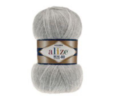 Alize Angora real 40  Серый меланж, 614