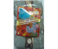 Хозяюшка-Рукодельница Носочная добавка Салатовый (набор 3 мотка, носочные спицы)
