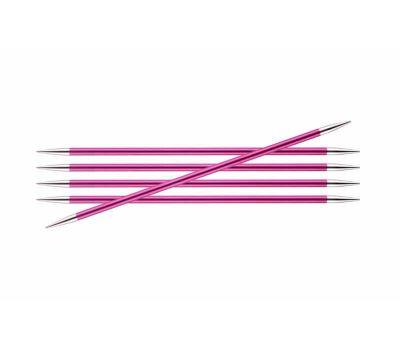 """20/5,00 Knit Pro Спицы чулочные """"Zing"""" алюминий 5шт. в упаковке №5,0, 47041"""