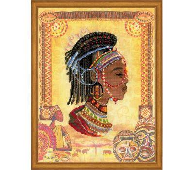 """РТ0047 Набор для вышивания """"Риолис"""" Африканская принцесса 30х40 см, РТ-0047"""