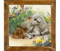 """РТ0051 Набор для вышивания """"Риолис"""" Ягненок и кролик 30х30 см"""