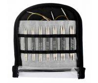 """41618 Knit Pro Набор """"Special Interchangeable Needle Set"""" съемных спиц """"Karbonz"""" (в наборе: спицы съемные (3,5мм, 3,75мм, 4мм, 4,5мм, 5мм, 5,5мм, 6мм) длина 10см, тросик 40см - 2шт, заглушки - 4шт, ключик - 2шт, классификатор размера с"""
