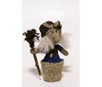 Набор для вязания игрушки Баба Яга, размер 16х12