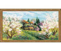 """1275 Набор для вышивания """"Риолис"""" Яблоневый сад 42х23 см"""