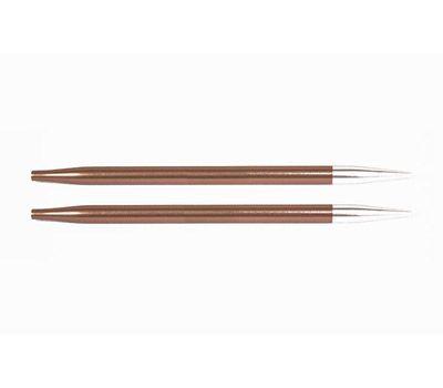 """5,50 Knit Pro Съемные спицы """"Zing"""" 5,5мм для длины тросика 28-126см, алюминий, охра (коричневый), 2шт в упаковке, 47506"""