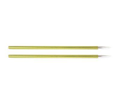 """3,50//20 Knit Pro Съемные спицы """"Zing"""" 3,5мм для длины тросика 20см, алюминий, хризолитовый, 2шт в упаковке, 47521"""