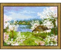 """1524 Набор для вышивания """"Риолис"""" Яблони в цвету 24х18 см"""