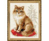 """1525 Набор для вышивания """"Риолис"""" Кошка домашняя 24х30 см"""
